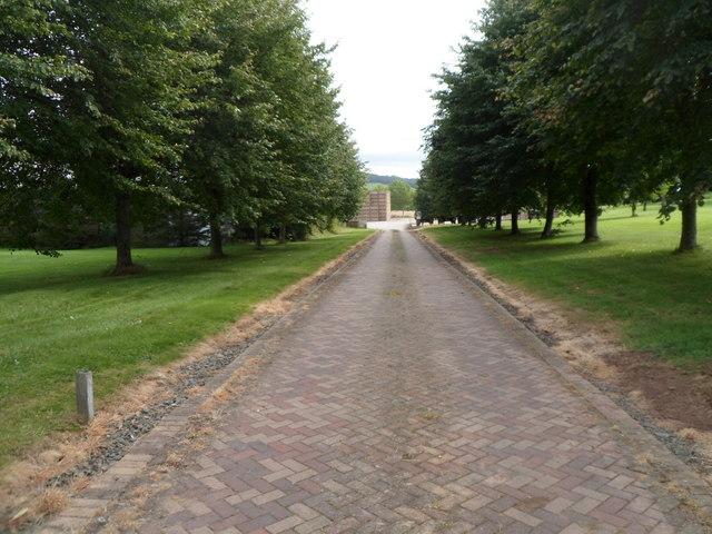 Entrance road to Dorstone Court, Dorstone