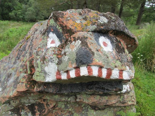 """""""Face"""" on a rock in Glen Dochart"""