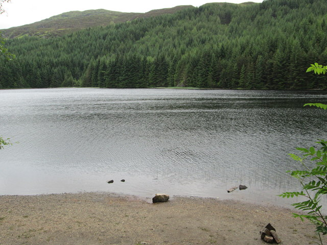Lochan Lairig Cheile, view south-west