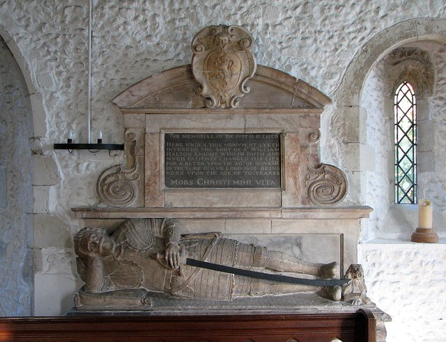 Great Abington: St Mary - monument to Sir William Halton