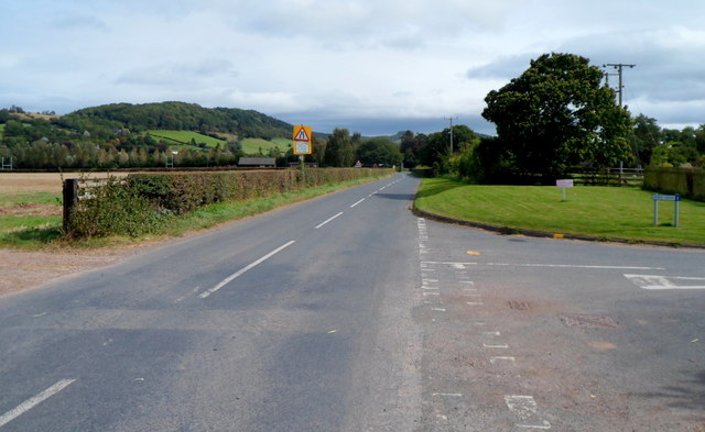 East along the B4348 in Dorstone