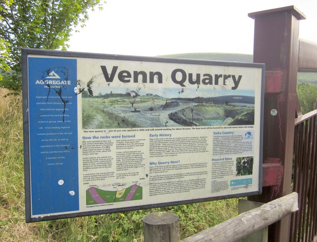 Information board, Venn Quarry