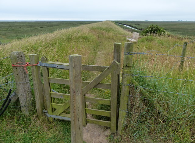 Gate leading to the outer sea bank