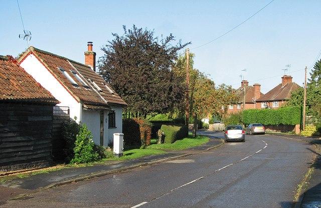 Little Abington: Church Lane in October