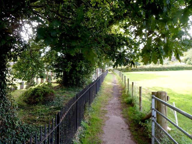Path from the B4348 to the village centre, Dorstone