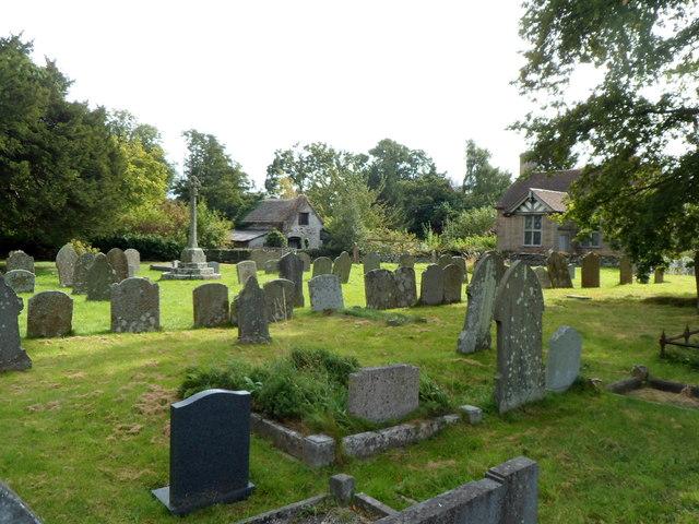 SW corner of the churchyard, Dorstone