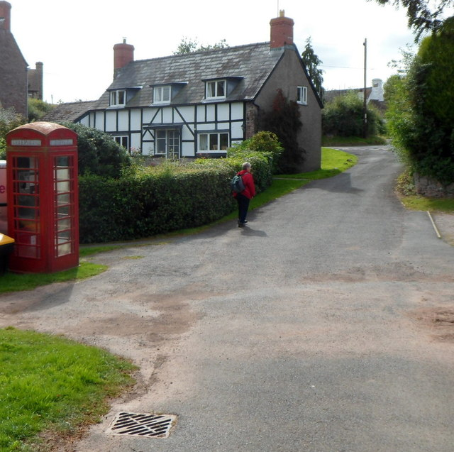 Red phonebox in Dorstone