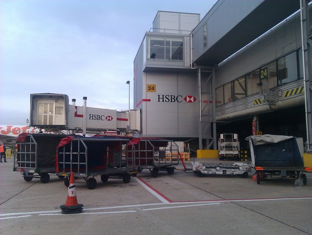 Gatwick Airport South Terminal: Gate 24 seen from the apron