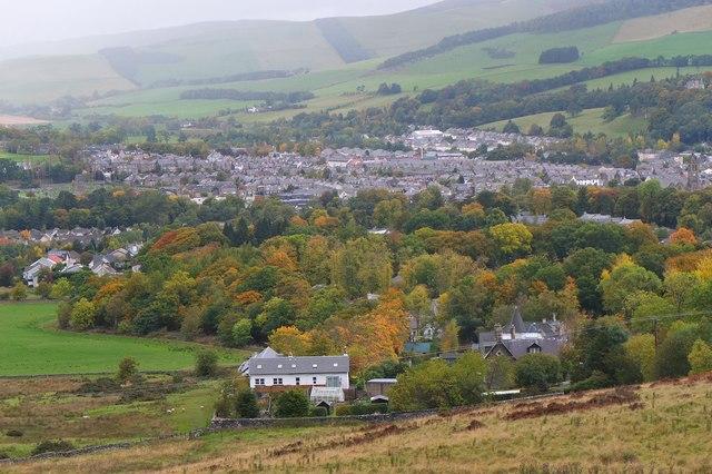 Autumn colours at Craigerne, Peebles