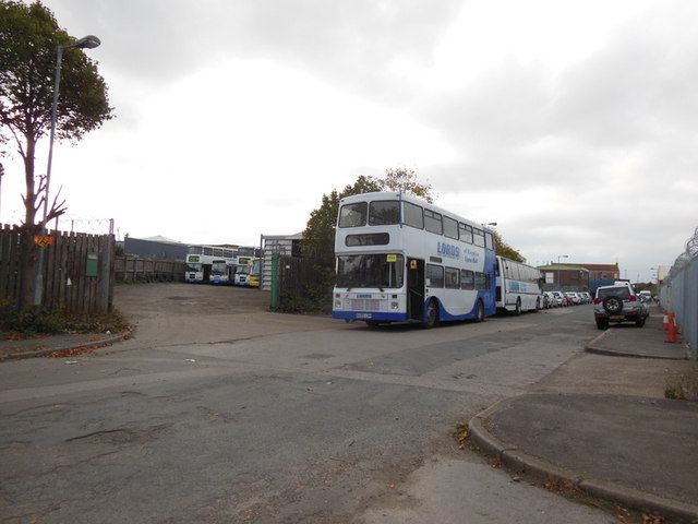 Lords bus depot on Woodhouse Street, Hull