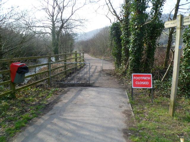Riverside footpath from Cwmavon to Port Talbot