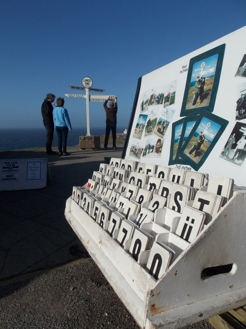 Land's End: signpost letters await deployment