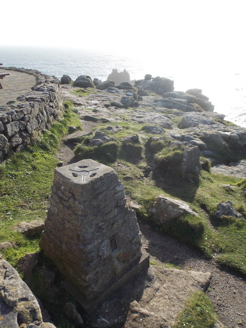 Land's End: the trig point