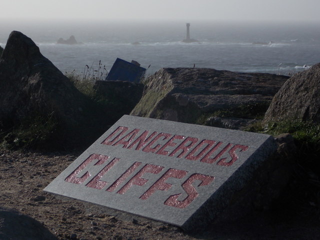 Land's End: Dangerous Cliffs warning