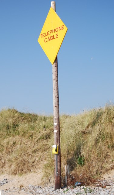 Telephone Cable sign, The Burrows