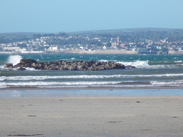Marazion: Great Hogus and view of Penzance