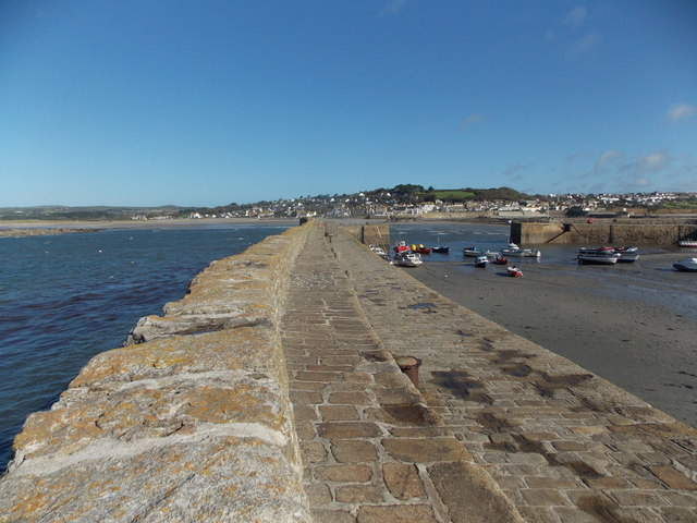 St. Michael's Mount: along the harbour wall