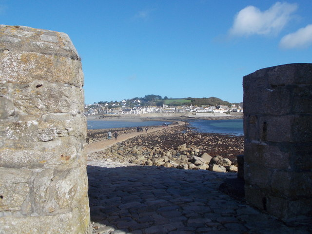 St. Michael's Mount: view back to Marazion