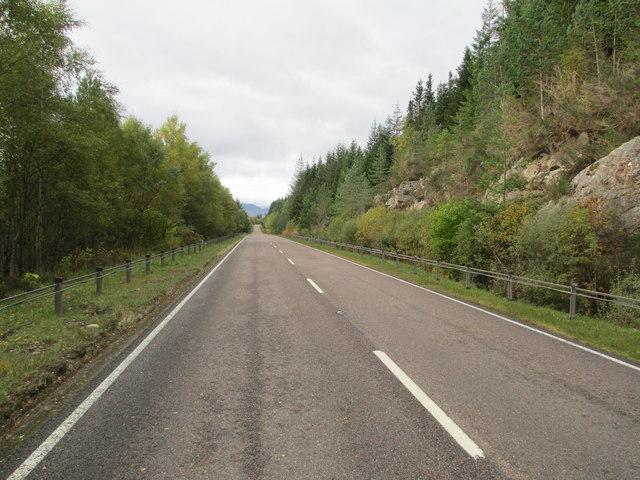 A86 by Loch Laggan