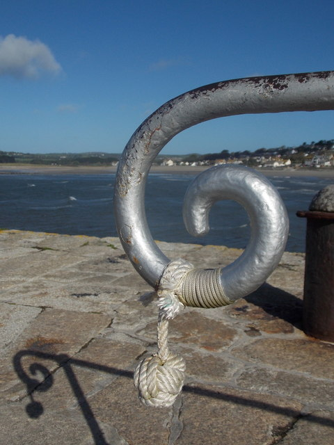 St. Michael's Mount: end of a harbour railing