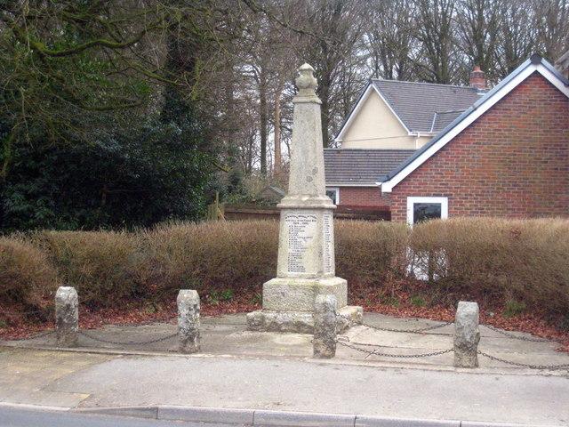 War Memorial at Halwill Junction