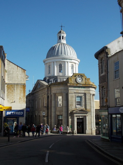 Penzance: the Market House from the west