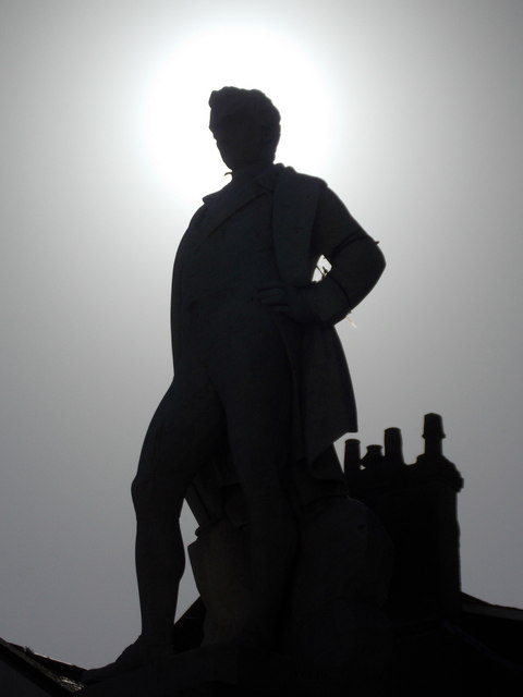 Penzance: Sir Humphry Davy is silhouetted