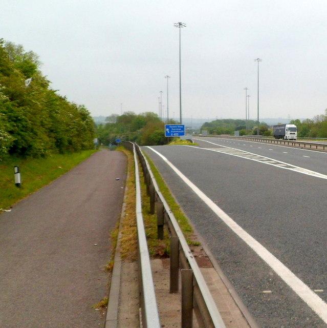 M48 exit slip road, Aust