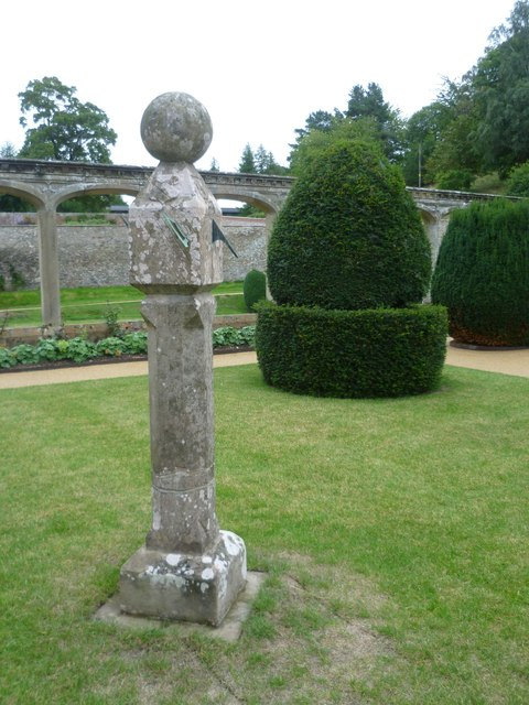 Garden sundial at Abbotsford