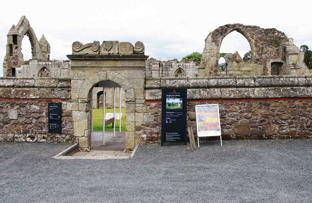Entrance to the ruined Haughmond Abbey, near Haughton, Shrops