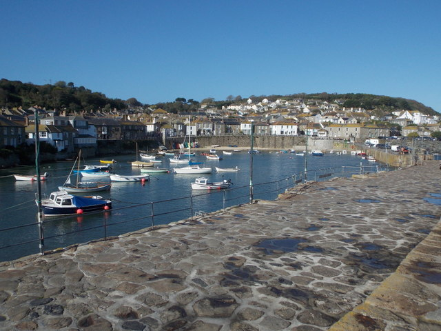 Mousehole: looking over the harbour and village