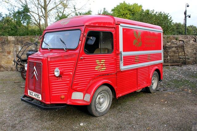 Vintage Citroën H Van at Erddig