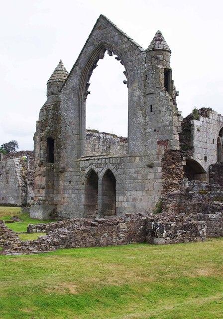 The ruined Haughmond Abbey, near Haughton, Shrops