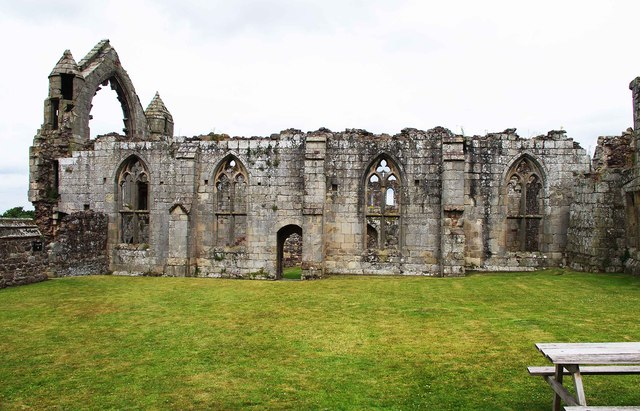 Abbot's hall at the ruined Haughmond Abbey, near Haughton, Shrops