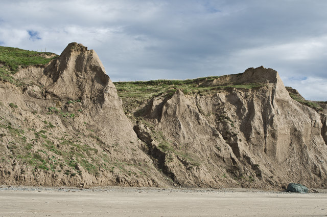 Cliffs above Aberdaron Beach