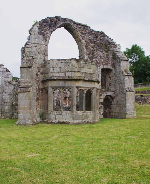 Bay window of the abbot's private rooms, Haughmond Abbey, near Haughton, Shrops