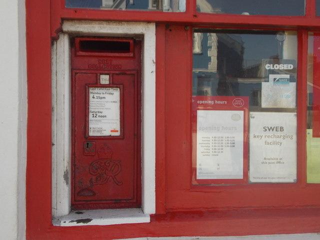 The Lizard: postbox № TR12 94