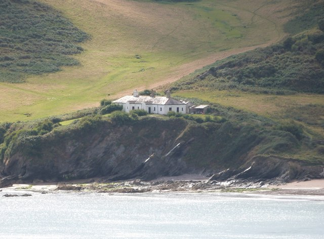 The old Coastguard's cottages on Crabrock Point