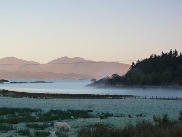 Morning mist on Loch Feochan