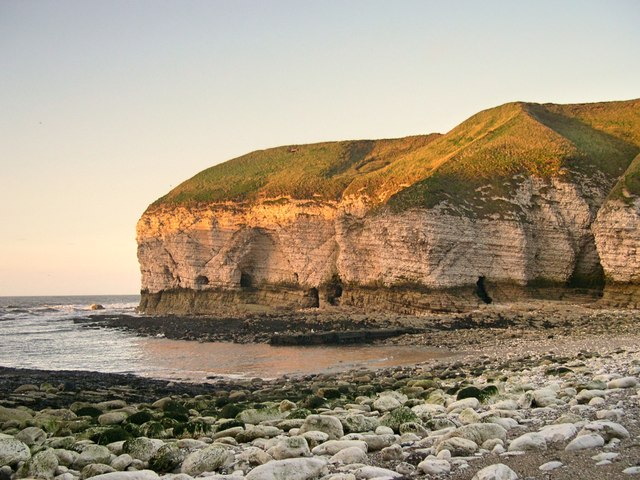 Sunlit cliffs, North Landing, Flamborough