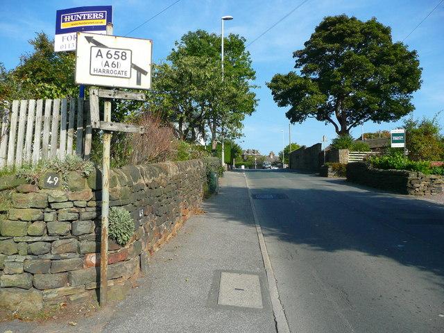 Green Lane approaching Harrogate Road