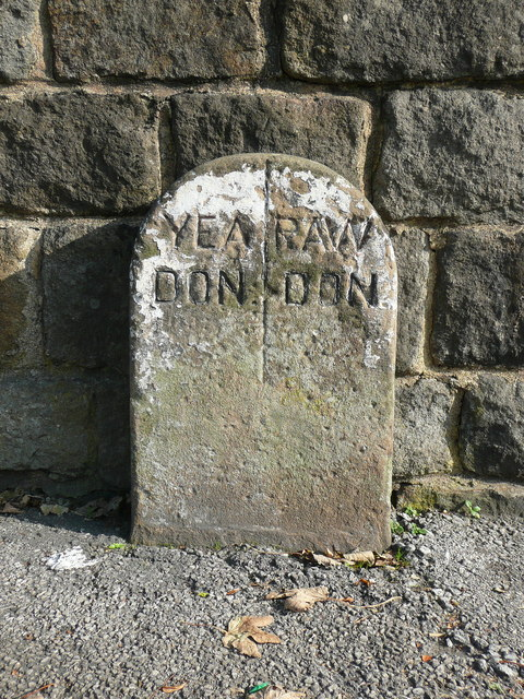 Boundary stone on the A658