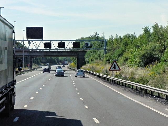 Southbound M42, near Coleshill