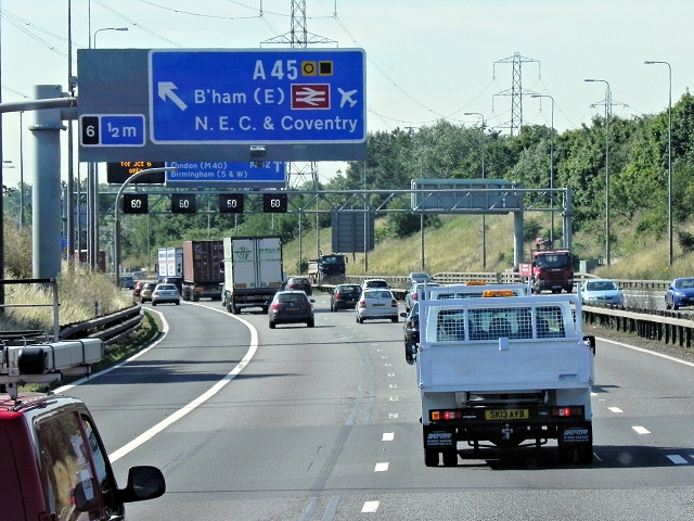 Southbound M42 near the National Exhibition Centre