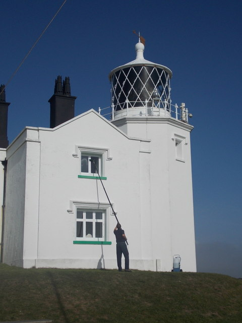 The Lizard: cleaning the lighthouse windows