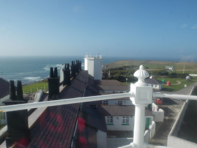 The Lizard: view across the lighthouse roof