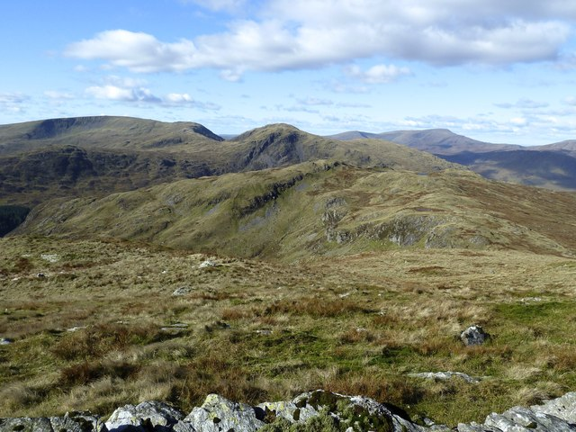 Panorama of Galloway hills from Red Gairy