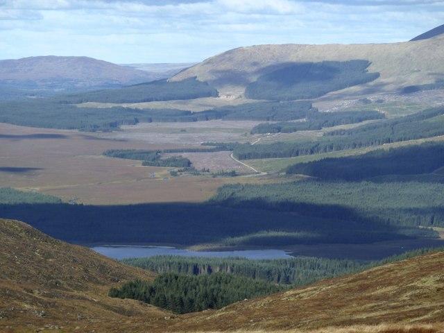 Loch Dee seen from the Millfore ridge