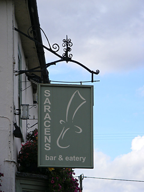 Saracens Bar & Eatery sign