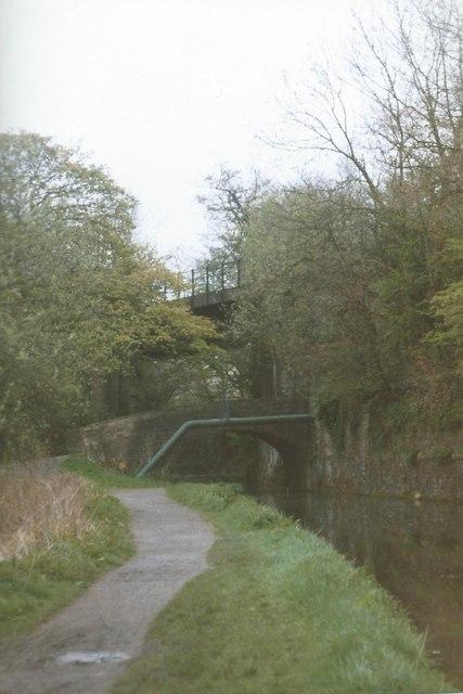 Monmouthshire & Brecon Canal, Bridge 51, Coed-y-Grib Bridge and Bridge 51A, Railway Bridge